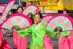 Parade performers during the Korean Festival