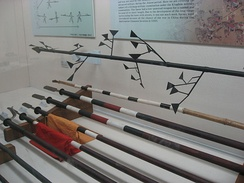A selection of Korean spears