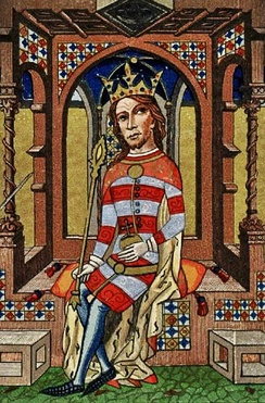 Louis I of Hungary from the 1360's Chronicon Pictum