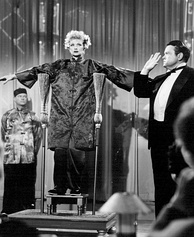 Welles the magician with Lucille Ball in I Love Lucy (October 15, 1956)
