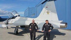 Mark Daniels and Victor Miller F-5 aircraft