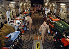 A C-17 in its aeromedical evacuation configuration
