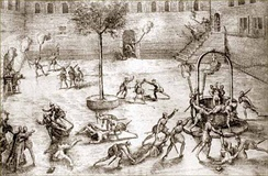 Huguenots massacring Catholics in the Michelade in Nîmes