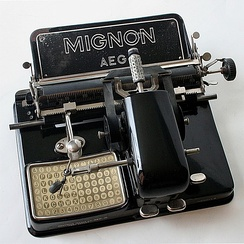 A Mignon Model 4 index typewriter from 1924