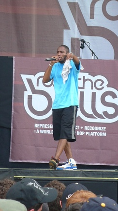 Mos Def performing at Rock the Bells in New York.