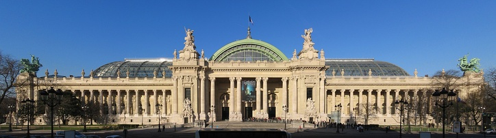 The Grand Palais (1897-1900) in Paris, built in the style of Beaux-Arts architecture