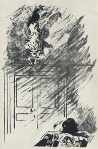 "Illustration by French impressionist Édouard Manet for the Stéphane Mallarmé translation of ""The Raven"", 1875. Digitally restored."