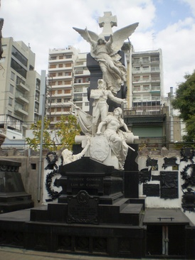 Tomb of General Luis María Campos, designed by French sculptor Jules Coutan.[17]