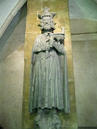A statue of Frederick II from the Black Tower of Regensburg, c. 1280–1290.
