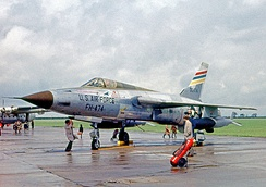 Republic F-105D of 36 Tactical Fighter Wing based at Bitburg, West Germany, in 1962