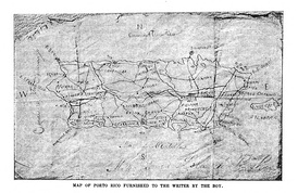 Map drawn by Rudolph Riefkohl and given to Edwin Emerson, Jr.