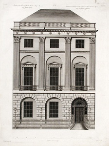The façade of No. 20 as designed by Robert Adam.