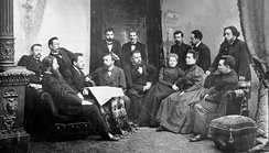 "The editorial staff of newspaper ""Severnyi Kray"" in Yaroslavl, Russia in 1900"