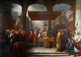 Robert Clive meeting with Emperor Shah Alam II, 1765.