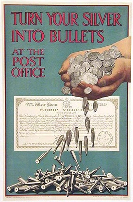 British poster encouraging investment in war bonds