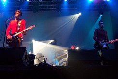 Snow Patrol on stage in New York's Roseland Ballroom in 2006