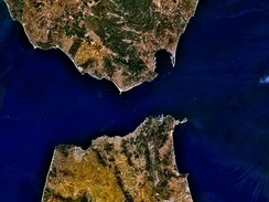 The Strait of Gibraltar is 13 kilometres wide