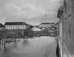 Szeged during the flood of 1879
