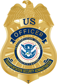 Badge of a Transportation Security Officer