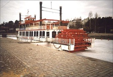 Finlandia Queen, a paddle-wheel ship from 1990s in Tampere, Finland[1]