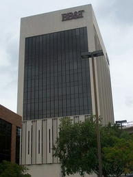 The BB&T Building in Macon, Georgia is constructed of aluminum.