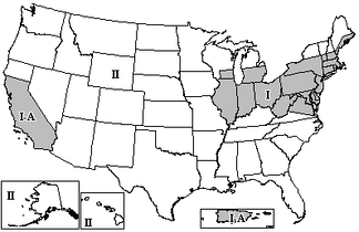 FM broadcast zones in the US