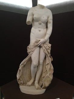 The Landolina Venus [it], named after archaeologist Saverio Landolina [it], ho discovered it in 1804, is a 2nd-century AD Roman copy of a Hellenistic original (Museo archeologico regionale Paolo Orsi)