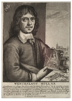 Self-portrait etched by Wenceslaus Hollar