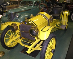 "A 1910 Empire 20 ""B"" model on display at the Central Texas Museum of Automotive History."