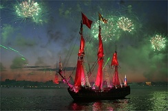 """Scarlet Sails"" celebration in Saint Petersburg (Watch on YouTube)"