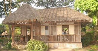 Bahay kubo with low elevation