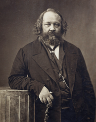 Anarchist Mikhail Bakunin opposed the Marxist aim of dictatorship of the proletariat and allied himself with the federalists in the First International before his expulsion by the Marxists