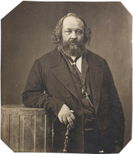 Mikhail Bakunin, an anarchist whom syndicalists viewed as an intellectual forerunner
