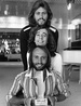 Bee Gees in 1978 (top to bottom) Barry, Robin, and Maurice Gibb