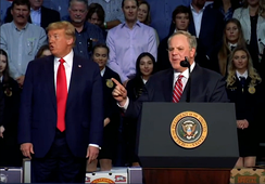 Bernhardt as secretary of the interior and President Trump in Bakersfield, California in February 2020