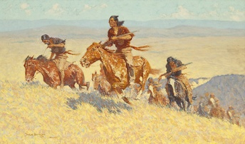 Buffalo Runners-Big Horn Basin, 1909, Oil on canvas, Sid Richardson Museum, Fort Worth, Texas (https://www.sidrichardsonmuseum.org)