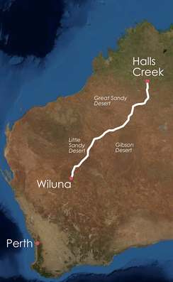 Canning Stock Route in Western Australia.