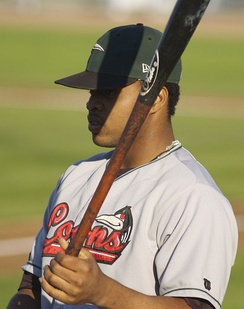 Santana with the Great Lakes Loons in 2007