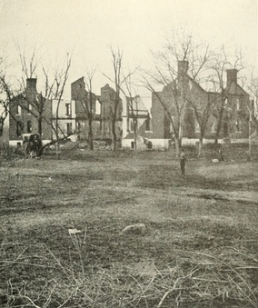 Ruins of the Chancellor House which was the headquarters of Federal General Joseph Hooker of the Army of the Potomac during the battle, later burned, May 1863