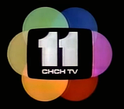 CHCH-TV logo used from the introduction of colour television in 1966 until 1987.