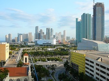 Since late 2001, Downtown Miami has seen a large construction boom in skyscrapers, retail and has experienced gentrification[citation needed].