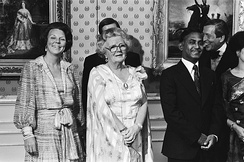 President Ziaur Rahman with Queen Juliana and Princess Beatrix of the Netherlands in 1979