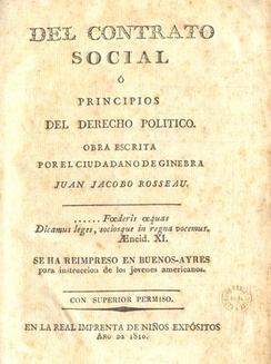 Jean-Jacques Rousseau's The Social Contract, translated into Spanish by Mariano Moreno