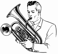 Double bell euphonium being played