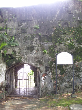 Fort Santiago Postern of Our Lady of Solitude, Manila, through which on 5 October 1762, Lieutenant Governor Simón de Anda y Salazar escaped the British bombardment during the conquest of Manila.