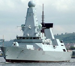 A Royal Navy Type 45 destroyer is a highly advanced anti-air ship