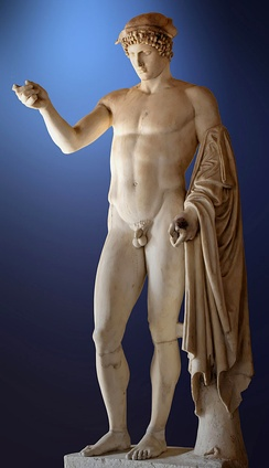 "So-called ""Logios Hermes"" (Hermes Orator). Marble, Roman copy from the late 1st century BC - early 2nd century AD after a Greek original of the 5th century BC."
