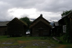 Farm buildings at the Voss Museum.