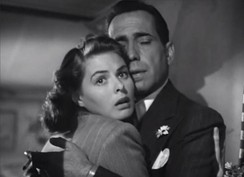 Scene from Casablanca, with co-star Humphrey Bogart
