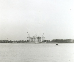 Under construction in 1941, as seen from across the Tidal Basin
